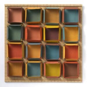 "Box Rental: Seed Sort, gouache on cut paper, 11.5 x 11.5 x 1"" Artist: Laurene Krasny Brown"
