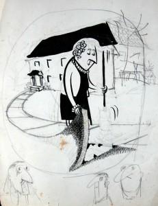 Gene Baer cartoon study