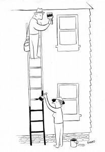 Gene Baer housepaint cartoon