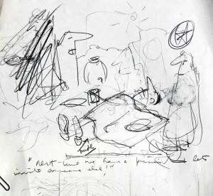 Gene Baer scribble